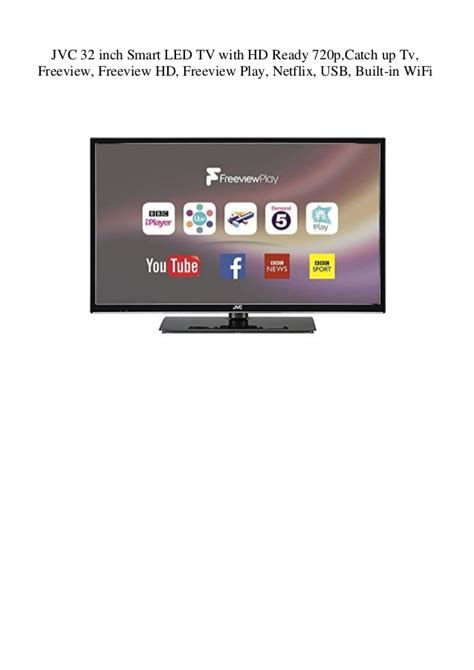 JVC 32 inch Smart LED TV with HD Ready 720p Catch up Tv ...