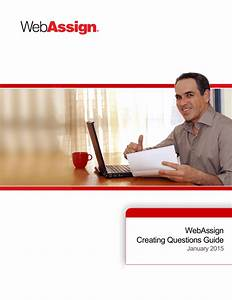 Webassign Creating Questions Guide
