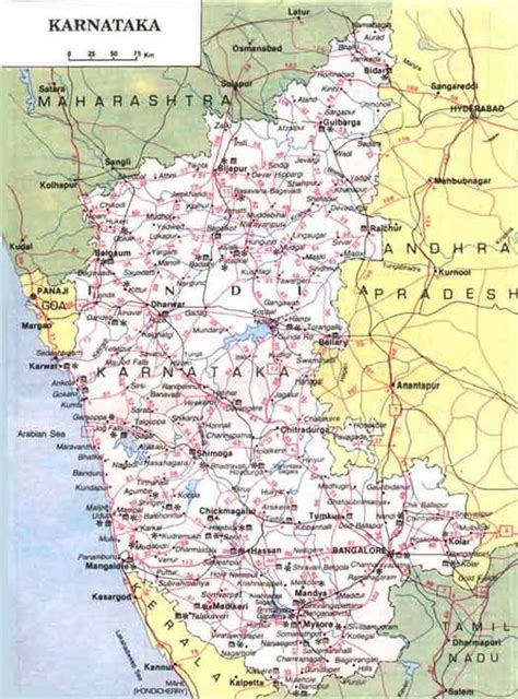 karnataka map  karnataka