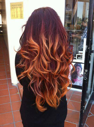 red ombre hair colors ideas