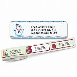 christmas designer rolled address labels 5 designs With address labels near me