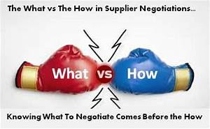 What's Important: The What or How To Negotiate With Suppliers?