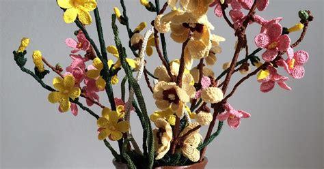 fiori profumati invernali il di sam composizione di fiori invernali all uncinetto