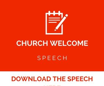 christmas welcome address for church church welcome speech sle