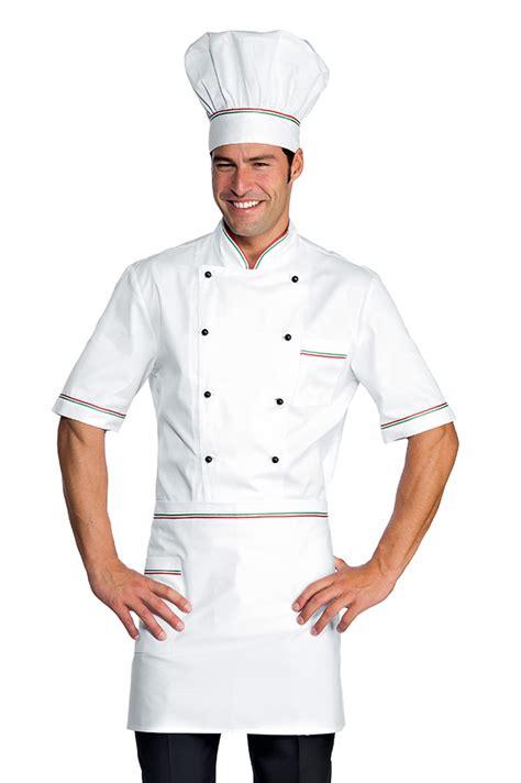 tenu cuisine veste chef cuisinier alicante blanc tricolore 100 coton