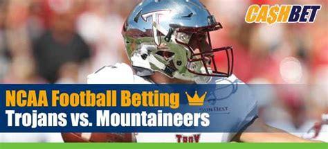 Troy Trojans vs. Appalachian State Mountaineers NCAA ...