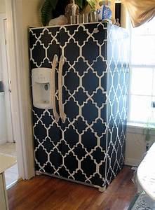 Des idees sympas pour decorer votre frigo bricobistro for Kitchen colors with white cabinets with plier papier