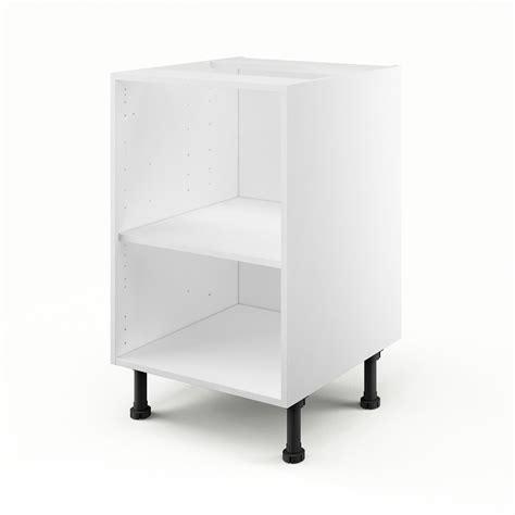 meuble cuisine 50 cm largeur caisson de cuisine bas b50 delinia blanc l 50 x h 85 x p