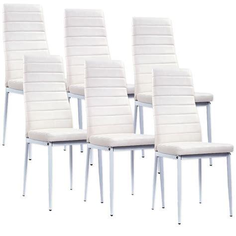 lot de 6 chaises blanches lot de 6 chaises blanches a73b electro discount