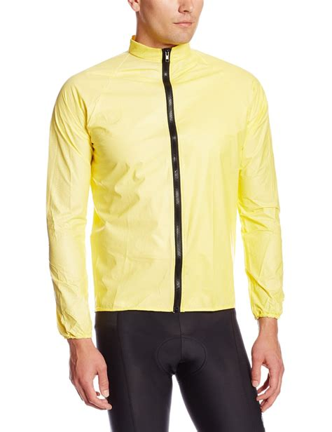 bicycle rain jacket rainshield o2 unisex cycling rain jacket yellow
