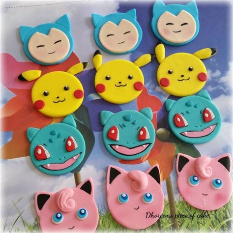 pokemon cupcake toppers awesome cupcake toppers  etsy