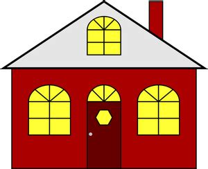 14928 Kostenlose Clipart Zeichnung Haus  Public Domain