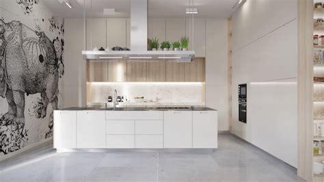 cuisine blanche sol gris 1001 conseils et idées pour aménager une cuisine moderne