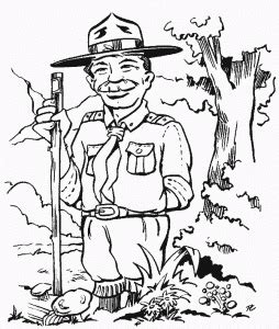 cub scout  boy scout coloring pages  kids