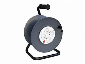 Coupe Circuit Electrique : enrouleur c ble lectrique vide 4 prises coupe circuit rallonge enrouleur fiche ~ Melissatoandfro.com Idées de Décoration