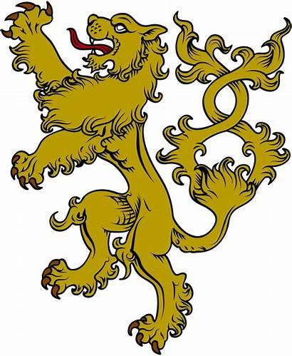 Wolf Heraldic Crest Lions Clipart Lion Arms
