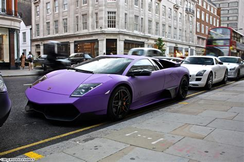 Brilliant photo of the vibrant purple bugatti veyron super sport! Wallpaper : London, black, street, road, photography ...