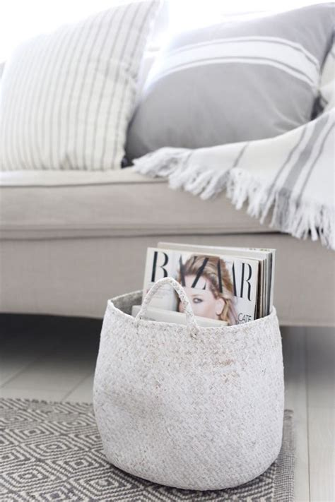 cool ways   baskets  home decor shelterness