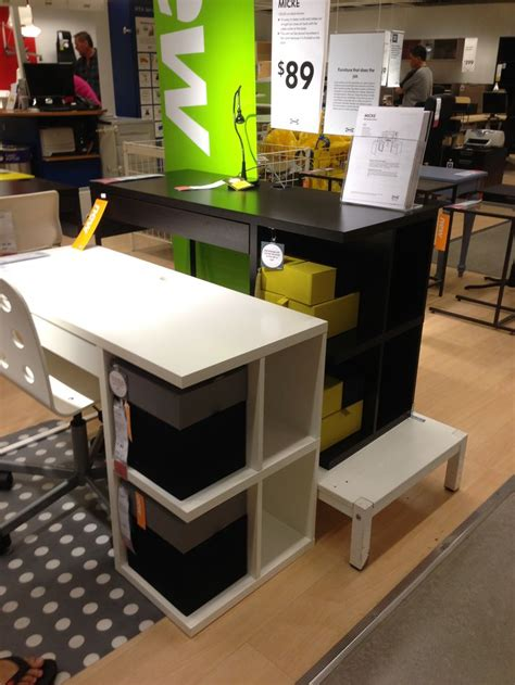 ikea micke desk with integrated storage assembly pin by sparrow nu on condo ideas