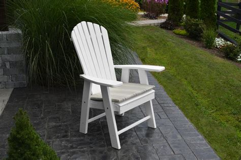 poly wood upright adirondack chair from dutchcrafters