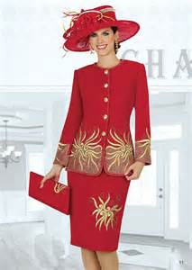 Red Women Church Suits and Dresses