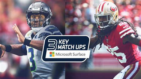 week  key matchups seahawks  ers