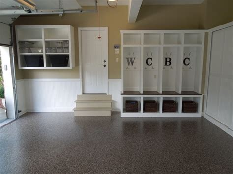 granite garage floors storage modern garden shed and