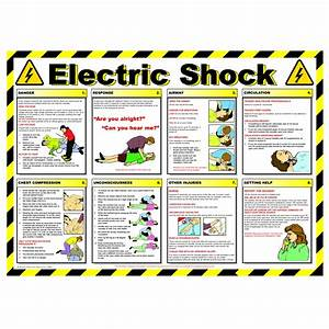 Non Branded Electric Shock Guide Safety Poster 600x420mm
