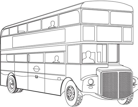double decker bus coloring page   double