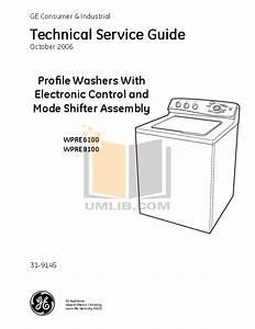 Download Free Pdf For Ge Profile Wpre6100g Washer Manual