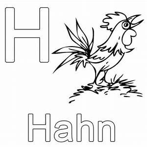 Kleine Rechnung Mit 4 Buchstaben : kostenlose malvorlage buchstaben lernen h wie hahn zum ausmalen ~ Themetempest.com Abrechnung