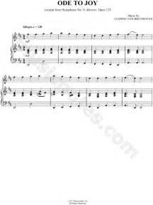 Ode to Joy Piano Sheet Music