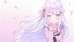 Anime, Cat, Girl, Cute, Loli, Long, Hair, Animal, Ears, -, Cute, Wallpapers, For, Chromebooks