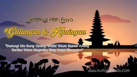 gambar  kata kata ucapan selamat hari raya galungan  kuningan hindu alukta