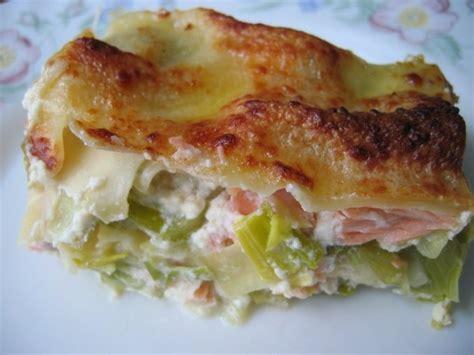 cuisiner poireau recette de lasagnes saumon et poireaux la recette facile