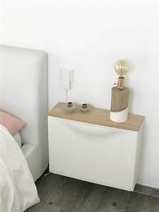 Ikea Schuhschrank Trones : ikea hack trones nachttisch elfenweiss ~ Orissabook.com Haus und Dekorationen