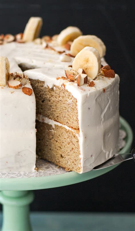 gluten  healthy banana cake  cream cheese frosting