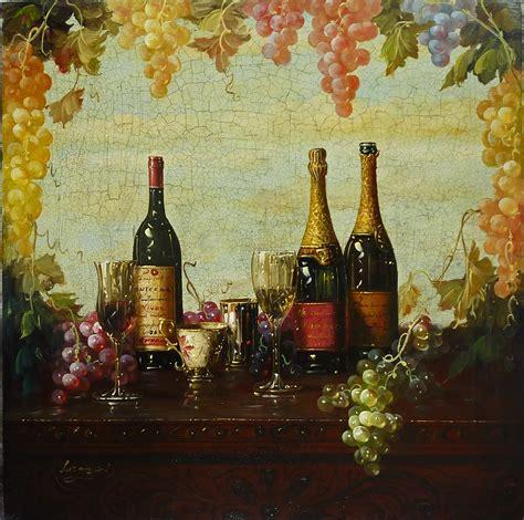 artfinders luxeart luzanquis wine paintings