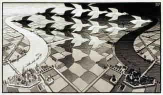 M.C. Escher Day and Night