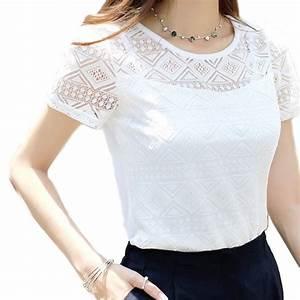 women lace blouse femme tops chiffon shirt summer 2016 With blouse carreaux femme