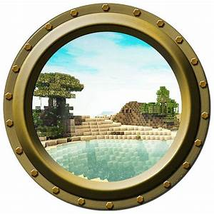 Minecraft lakeside porthole vinyl wall decal by for Awesome minecraft vinyl wall decals
