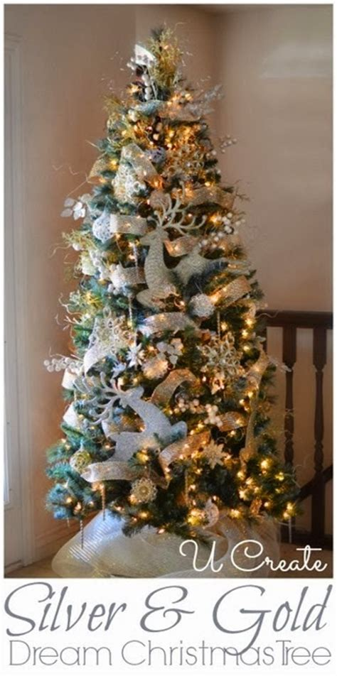 silver and gold tree michaels dream tree challenge peacock christmas tree
