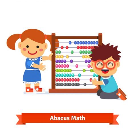 Kids Are Learning Math Vector  Free Download