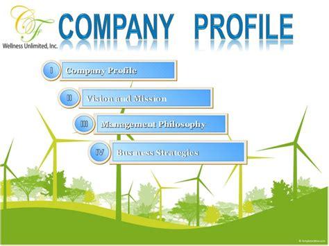company profile presentation template pdf cf wellness company profile presentation