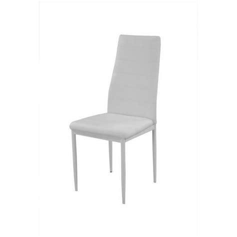 vogue lot de 4 chaises de salle 224 manger blanches achat vente chaise salle a manger pas cher