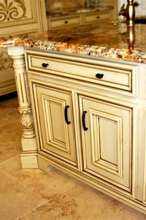 black glazed kitchen cabinets black gold glaze and ivory on 4677