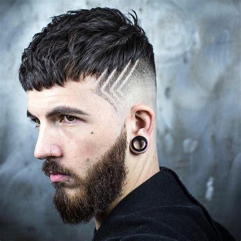 textured crop skin fade hair design hairstyle men