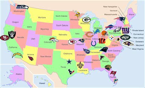 Nfl Teams Karte