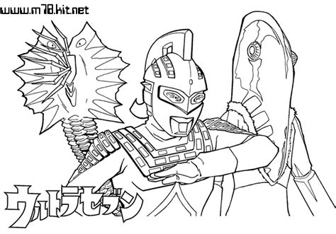 Coloring Ultraman Pictures by Ultraman Nexus Free Coloring Pages
