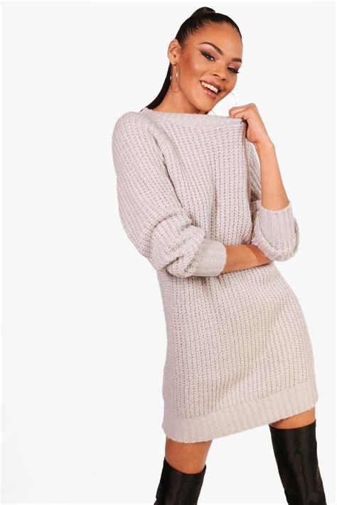 jumper knit dress boohoo womens soft knit jumper dress ebay